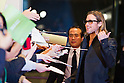 November 9, 2011: Tokyo, Japan - US actor Brad Pitt reacts with fans at the Japan red carpet premiere for the film 'Moneyball'. The film will be released in Japanese theaters from November 11. (Photo by Christopher Jue/Nippon News)