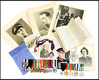 BNPS.co.uk (01202 558833)<br /> Pic: Hansons/BNPS<br /> <br /> An impressive group of Second World War medals awarded to a remarkable husband and wife have emerged for auction and are tipped to sell for &pound;10,000.<br /> <br /> Courageous Colonel Sir Peter Hilton was one of only 25 men to be awarded the Military Cross three times, while his wife Lady Winifred was a member of the Women's Auxillary Air Force who worked in special operations on radar, decoding and cyphers in Liverpool and Belfast.<br /> <br /> The supercouple - who amassed a staggering 19 medals between them - met in 1940 when Sir Peter was billeted in Matlock, Derbyshire, after being evacuated from Dunkirk. They got married two years later.