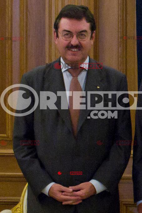 02.08.2012. Juan Carlos of Spain attends the audience with Mr. Mario Monti, President of the Council of Ministers of Italy, at the Palacio de la Zarzuela in Madrid. In the image Leonardo Visconti di Modrone, Italian Ambassador to Spain (Alterphotos/Marta Gonzalez) /NortePhoto.com<br /> <br />  **CREDITO*OBLIGATORIO** *No*Venta*A*Terceros*<br /> *No*Sale*So*third* ***No*Se*Permite*Hacer Archivo***No*Sale*So*third*