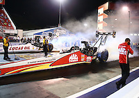 Jun 17, 2016; Bristol, TN, USA; NHRA top fuel driver Doug Kalitta during qualifying for the Thunder Valley Nationals at Bristol Dragway. Mandatory Credit: Mark J. Rebilas-USA TODAY Sports