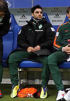 FUSSBALL   1. BUNDESLIGA   SAISON 2011/2012   22. SPIELTAG Hamburger SV - Werder Bremen       18.02.2012 Mehmet Ekici (SV Werder Bremen)  musste auf der Ersatzbank Platz nehmen