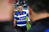 Kahn Fotuali'i of Bath Rugby is all smiles after the match. Aviva Premiership match, between Bath Rugby and Saracens on December 3, 2016 at the Recreation Ground in Bath, England. Photo by: Patrick Khachfe / Onside Images