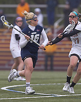 University of New Hampshire midfielder Rachael Nock (16). Boston College defeated University of New Hampshire, 11-6, at Newton Campus Field, May 1, 2012.