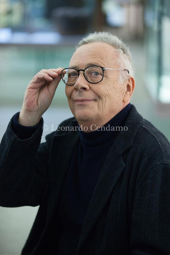 Ranieri Polese nato a Pisa (5-4-1946), laureato in filosofia, giornalista, ha lavorato alla Nazione di Firenze, all'Europeo, dal 1989 lavora al Corriere della Sera. Milano 18 novembre 2016. Bookcity. © Leonardo Cendamo