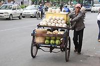 Ho Chi Minh city<br /> , Vietnam - 2007 File Photo -<br /> <br /> Vendor selling coconut drinks, from cart. <br /> <br /> <br /> <br /> <br /> photo : James Wong-  Images Distribution