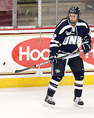 Julie Allen (UNH - 2) - The Boston College Eagles and the visiting University of New Hampshire Wildcats played to a scoreless tie in BC's senior game on Saturday, February 19, 2011, at Conte Forum in Chestnut Hill, Massachusetts.