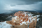 Storm clouds over Rainbow Point in Bryce Canyon