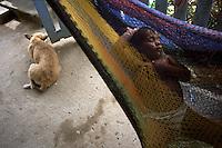 A child naps in a hammock in Limón de la Cerca, Honduras.