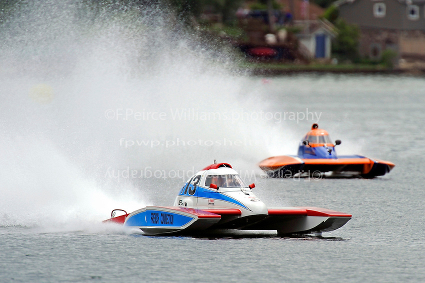 "Joe Sovie, Y-13 ""French Connection"" and Sean Bowsher Y-52  (1 Litre MOD hydroplane(s)"