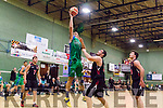Up to the ceiling<br /> ----------------------<br /> Garvey's Tralee Warriors 6' 10'' Goran Pantovic uses all his worth to elevate way above Dublin Kubs Kevin Foley to score with one hand, when the sides met at Tralee sports complex last Saturday night watched by the usual capacity crowd.