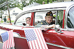 Some American Legion veterans rode in classic cars during the Merrick Memorial Day Parade on Monday, May 28, 2012, on Long Island, New York, USA. America's war heroes are honored on this National Holiday.