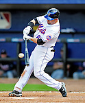 2 March 2010: New York Mets' center fielder Jesus Feliciano connects against the Atlanta Braves during the Opening Day of Grapefruit League play at Tradition Field in Port St. Lucie, Florida. The Mets defeated the Braves 4-2 in Spring Training action. Mandatory Credit: Ed Wolfstein Photo