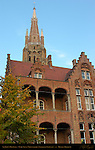 St. John's Hospital, Sint-Janshospitaal, Onze-Lieve-Vrouwkerk Church of Our Lady Tower, Bruges, Brugge, Belgium