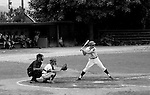 Allentown PA:  Paul Hauck batting during the final game for Bethel Park at the American Legion Baseball Championship.  It was a round-robin tournament and Bethel lost their first two games and were out of the tournament - 1970.