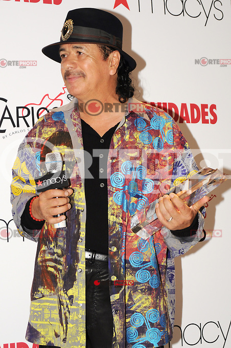 NEW YORK, NY- OCTOBER 11: Carlos Santana honored by Macy's and Vanidades magazine with the 2012 Icon of Style award and promoting his new Carlos By Carlos Santana collection of Women's shoes at Macy's in New York City. October 11, 2012. &copy;&nbsp;MediaPunch Inc. /NortePhotoAgency .<br />