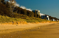 Palisades Nuclear Power Plant venting steam into the atmosphere. Images made from beach area of Van Buren State Park Michigan which is not far from the town of South Haven.