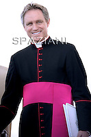 Monsignor Georg Gaenswein private secretary to Pope Benedict XVI during his weekly general audience in St. Peter square at the Vatican, Wednesday. 25 May, 2011