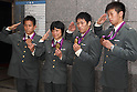 Members of Japan Self - Defense Forces Olympic medalists during a briefing session