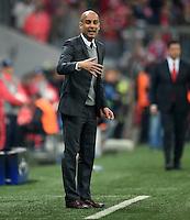 FUSSBALL CHAMPIONS LEAGUE  SAISON 2015/2016 VIERTELFINALE HINSPIEL FC Bayern Muenchen - Benfica Lissabon         05.04.2016 Trainer Pep Guardiola (FC Bayern Muenchen)