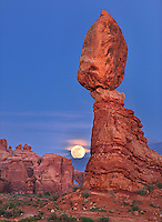 Full Moon Rising at Balanced Rock