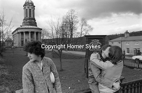 Saltaire near Shipley Bradford West Yorkshire England 1981. Saltaire United Reform Church. World Heritage Site