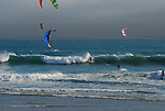 kite surfers at Waddell Beach