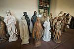 Statues,Mission San Juan Baptista, Calif.