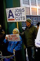 Jobs Not Cuts Rally and March Chicago Illinois 12-10-12