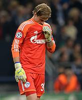 FUSSBALL   CHAMPIONS LEAGUE   SAISON 2013/2014   GRUPPENPHASE FC Schalke 04 - FC Chelsea        22.10.2013 Torwart Timo Hildebrand (FC Schalke 04)