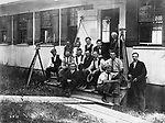 The Engineering Staff for the Morris Dam when construction began in 1811. Some of these men were employed in the Waterbury City Engineer's Office.