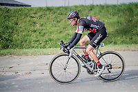 (eventual winner) Greg Van Avermaet (BEL/BMC) racing his customised BMC bike<br /> <br /> 60th E3 Harelbeke (1.UWT)<br /> 1day race: Harelbeke &rsaquo; Harelbeke - BEL (206km)