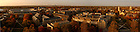 Panorama of campus at dawn in autumn..Photo by Matt Cashore/University of Notre Dame