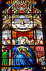 Stained glass window in the Basilica of the Sacred Heart at the University of Notre Dame