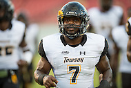 Tampa, FL - September 4th, 2016:Towson Tigers running back Darius Victor (7) during warm up's before game against USF at Raymond James Stadium in Tampa, FL.  (Photo by Phil Peters/Media Images International)