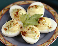 Deviled Eggs with Celery