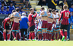 St Johnstone v Real Sociadad...12.07.15  Bayview, Methil (Home of East Fife FC)<br /> Real Sociaded players change their tops after clashing with the St Johnstone kit<br /> Picture by Graeme Hart.<br /> Copyright Perthshire Picture Agency<br /> Tel: 01738 623350  Mobile: 07990 594431
