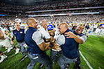 16FTB at Arizona 3196<br /> <br /> 16FTB at Arizona - Cactus Kickoff<br /> <br /> BYU Football defeated Arizona 18-16 in the Cactus Kickoff hosted at the University of Phoenix Stadium in Glendale, Arizona. It was also the first win for new Head Coach Kalani Sitake. <br /> <br /> September 4, 2016<br /> <br /> Photo by Jaren Wilkey/BYU<br /> <br /> &copy; BYU PHOTO 2016<br /> All Rights Reserved<br /> photo@byu.edu  (801)422-7322