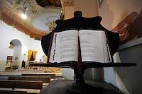 La chiesa di San Gaudenzio è stata completamente ristrutturata ed affrescata nel 1942, da un detenuto della colonia penale.Pianosa Island. The church of San Gaudenzio...