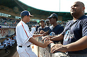 Chris Archer speaks with aspiring baseball players at the Durham Bulls' field Sunday August 5th 2012.