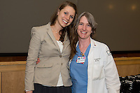 Student Clinician Ceremony. Elizabeth Robison, left, class of 2014, Anne Dougherty, M.D.