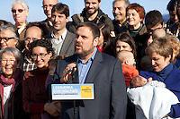 Spagna Barcellona  Elezioni all'assemblea catalana 25 Novembre 2012 Esquerra republicana de Catalunya partito politico nazionalista catalano il presidente Oriol Junqueras