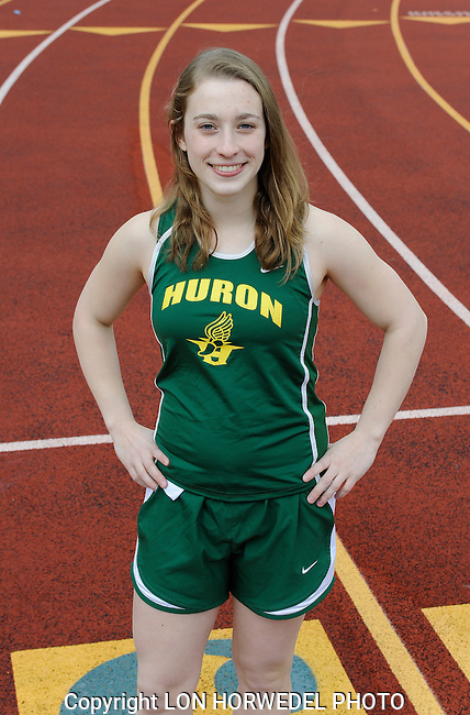 Huron High School girl's track and field team.Huron High School girl's track team.