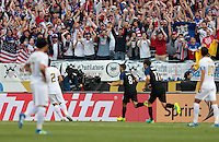 Chicago, IL - June 7, 2016: The U.S. Men's national team take a 1-0 lead over Costa Rica from a goal by Clint Dempsey during a first round match at the 2016 Copa America Centenario at Soldier Field.