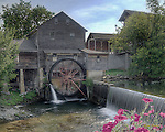 HDR image of The Old Mill in Pigeon Forge, TN, established 1830.