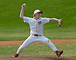 Weiser's Chaz Hartley pitches the fifth inning during the Vale-Weiser game on April 7, 2012 at Walter Johnson Memorial Field in Weiser, Idaho. Vale won the game 12-0 in five innings. Hartley pitched one inning giving up one hit, two walks and no runs. At the plate Hartley was 0-1 with a walk.