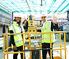 Sadiq Khan <br /> Mayor of London<br /> visits the Boxpark Croydon site adjacent to East Croydon station, Croydon, Surrey, Great Britain <br /> 1st September 2016 <br /> <br /> with Sian Anderson <br /> <br /> to promote the Boxpark Opening Festival on 29th/30th October 2016 <br /> <br /> <br /> <br /> Photograph by Elliott Franks <br /> Image licensed to Elliott Franks Photography Services