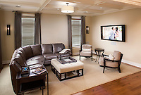 Family Room with Control4 Touch Panel