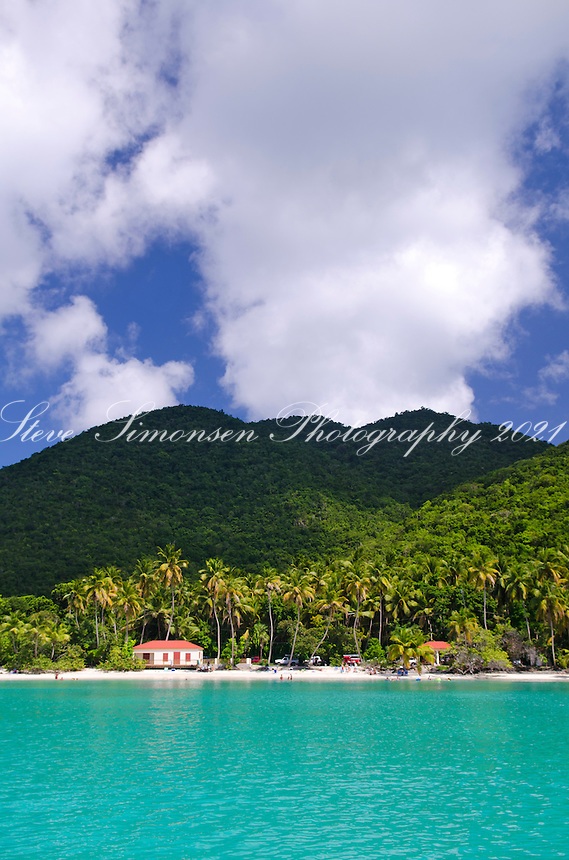 Maho Bay with new pavilions<br /> Virgin Islands National Park<br /> St. John<br /> U.S. Virgin Islands