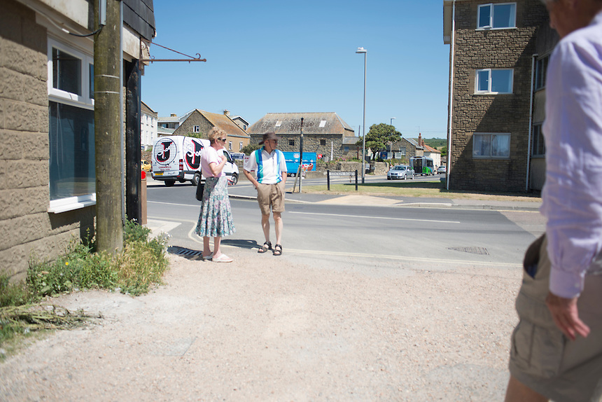 Summer day at West Bay, Brid Port, Dorset, UK.