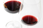 Two glasses of wine - elegant crystal glasses